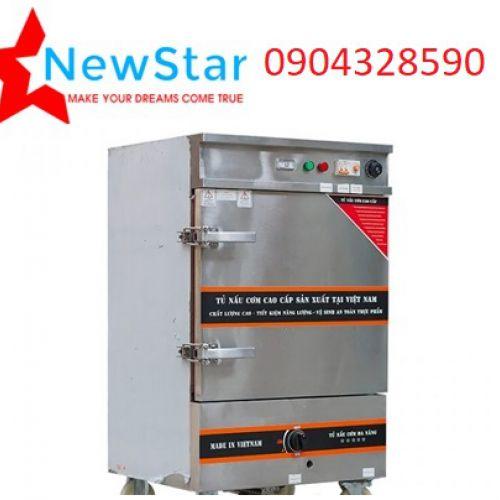 Tủ nấu cơm 6 khay dùng điện và gas